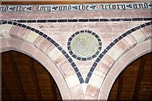 NY0106 : The Parish Church of St John, Beckermet, Wall detail by Alexander P Kapp