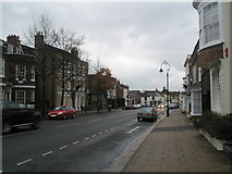 SU5806 : Looking down the High Street towards the Red Lion Hotel by Basher Eyre