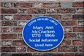 J3373 : Mary Ann McCracken plaque, Belfast by Albert Bridge