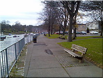NS3975 : Riverside walk along the River Leven by Stephen Sweeney