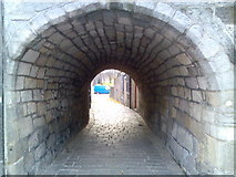 NS3975 : Arch tunnel by Dumbarton High Street by Stephen Sweeney