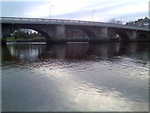 NS3975 : River Leven and bridge by Stephen Sweeney