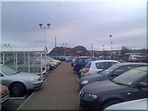 NS4075 : Car park of St James Retail Park by Stephen Sweeney