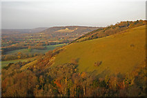 TQ2452 : Sunrise on The Saddle Knob, Colley Hill by Ian Capper