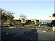 NS2875 : Dellingburn railway bridge by Thomas Nugent