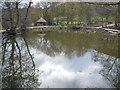 SK3462 : Overton Hall - Pond next to Sewage Treatment Works by Alan Heardman