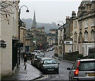ST7565 : 2007 : Walcot Street Bath from the north by Maurice Pullin