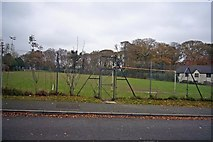 SX5857 : Sparkwell football pitch by Nigel Mole