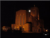 SU9850 : Moonrise over Guildford Cathedral by Colin Smith