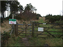 NZ7813 : Entrance to Newton Mulgrave Woods by Stephen McCulloch