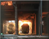NZ5625 : Pouring the Molten Iron , Redcar Blast Furnace by Mick Garratt