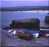 NB5363 : Port Nis harbour slipway by Trevor Rickard