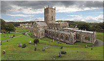 SM7525 : St David's Cathedral and Bishop's Palace. by Martin Halley