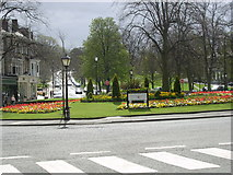 SE2955 : Roundabout near the Valley Gardens, Harrogate by Bill Johnson