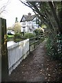 TR2157 : Footpath crossing the Little Stour, Littlebourne by Nick Smith