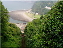 SS7249 : Lynmouth Harbour from Lynton by Colin Vosper