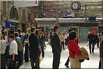 TQ3179 : Waterloo Station Concourse -  Ascot week by Terry Johnson