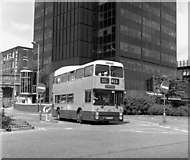 SD8913 : Bus leaving Rochdale bus station by Dr Neil Clifton