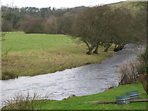 NY6366 : The River Irthing by Mike Quinn