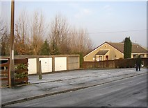 SE1321 : Garages, The Hoods, off Delf Hill, Rastrick by Humphrey Bolton
