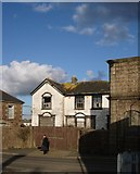 SW6439 : Derelict building, opposite Camborne railway station by Tom Jolliffe