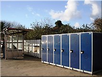 SW6439 : Lockers for bikes, Camborne railway station by Tom Jolliffe