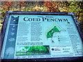 SN1640 : Coed Pencwm information board by ceridwen