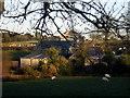 SN1639 : Farm and chapel, Pencwm by ceridwen