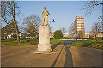 SU4212 : East Park looking towards Brunswick Place, Southampton by Peter Facey