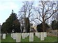 SP2804 : War graves at St. Mary the Virgin's church, Black Bourton by Jonathan Billinger