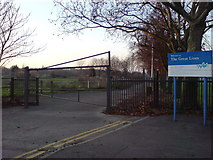 TQ7668 : Marlborough Road Entrance to Great Lines by Danny P Robinson
