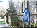SU6805 : Porch at St Andrew's Farlington by Basher Eyre