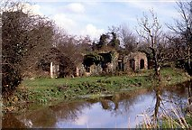 J2967 : Old Mill Ruin, River Lagan by Wilson Adams