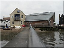 SZ1891 : Mudeford: jetty and lifeboat station by Chris Downer