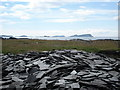 NM7413 : Slate north of Cullipool on Isle of Luing by Rolf Kallman