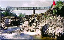 SE0063 : Linton Falls and original Tin Bridge by Chris Coleman