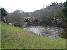 SK2957 : Cromford Bridge, River Derwent and Willersley Castle by Alan Heardman