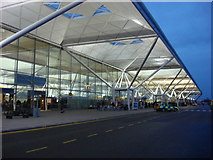 TL5523 : Stansted Airport, drop off point in front of terminal building by Oxyman