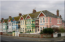 TQ1602 : Colourful Guest Houses, Worthing, West Sussex by Roger  Kidd