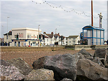TQ1602 : Beach and Seafront, Worthing, West Sussex by Roger  Kidd