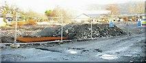 SH5638 : The construction site of the new Aldi supermarket in Penamser Road by Eric Jones