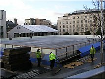 SE2934 : Ice Rink under construction - Millennium Square by Betty Longbottom