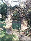 TQ1979 : Arch built as Gothic ruin, Gunnersbury Park by David Hawgood