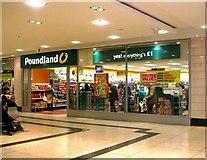SE1633 : Poundland - Kirkgate Arndale Centre by Betty Longbottom