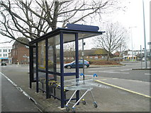 SU6400 : Bus  stop by Commercial Road roundabout by Basher Eyre