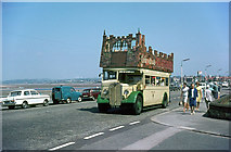 SD4464 : Open top bus on Morecambe Promenade by Alan Murray-Rust