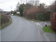 SJ4112 : Junction near New House Farm by Row17