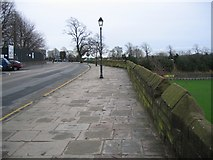 SJ4065 : Nuns Road and the city walls by John S Turner