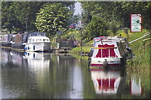TL4097 : Narrowboats on the River Nene (old course), March by dennis smith