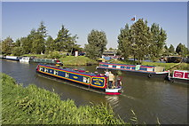 TL4097 : Narrowboat on the River Nene (old course) at March by dennis smith